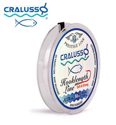0.18mm Fishing Line Cralusso Prestige Hooklink 50m 0.10mm