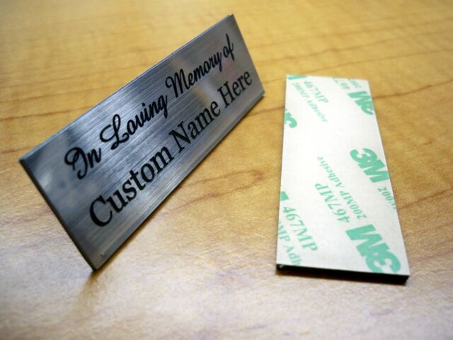 Custom Engraved 2x6 Silver In Memory Of Name PlatePlaque Urn Keepsake Pet Cat