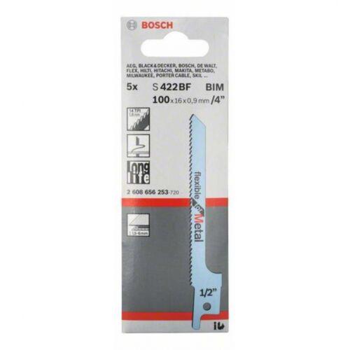Bosch 2608656253 Säbelsägeblatt S 422 BF,Flexible for Metal,5er-Pack