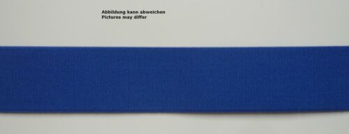 1 m peto-Elastic cinta elástica portador de goma 40mm azul