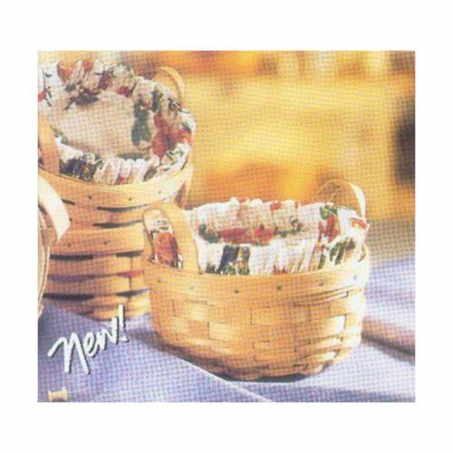 Longaberger Vintage Ticking BUTTON Basket Liner ~ Brand New in Original Package!