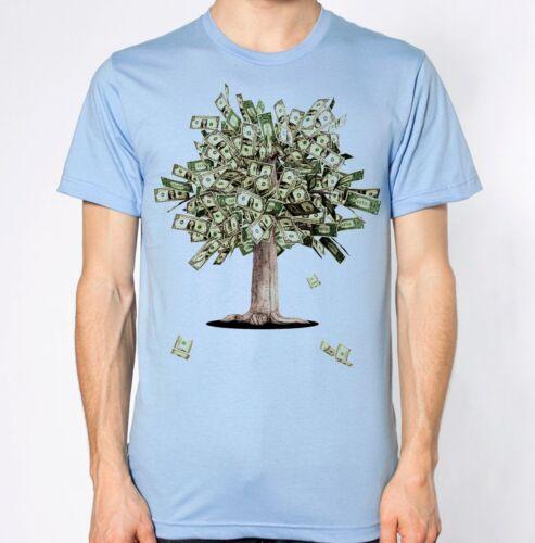 Tree of Money T-Shirt Cash Top Dollars Pounds Ambition Goals Tee Success