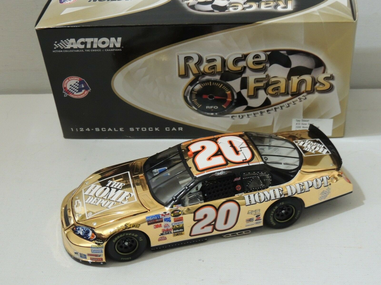 ACTION COLLECTIBLES 1 24 SCALETONY STEWART 2006 MONTE MONTE MONTE CARLO gold 1 OF 108 f23bbf