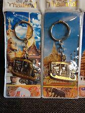 Lot De 2 PORTE CLES  Taxis BANGKOK Thaïlande En Métal tuk tuk