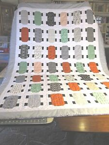New-Handmade-Quilt-Twin-SZ-100-Cotton-Skateboard-Design-Quilt-Twin-XL-NEW
