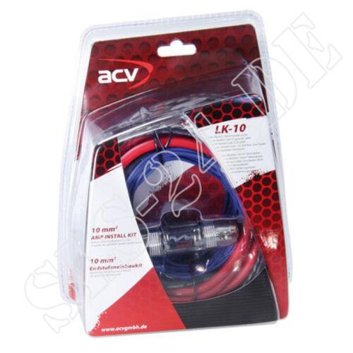 ACV endstufeneinbaukit lk-10 lk10 fases finales amplificador kabelset kabelkit 10mm²