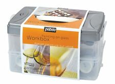 PEBEO VITREA 160 WORKBOX GLASS PAINTING 45ML WATER BASED PAINT STORAGE BOX CRAFT