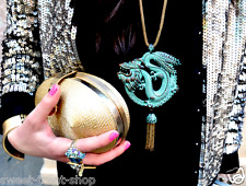 AUTHENTIC ZARA BEAUTIFUL ORIENTAL DRAGON METAL PENDANT CHAIN DRESS NECKLACE NEW