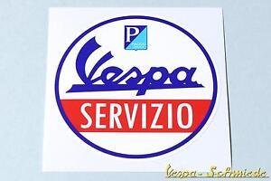 "V50 Pk Px Rally Sprint Gl Gt Ts Gtr Sticker Initiative Dekor Aufkleber ""vespa Servizio"" Accessoires & Fanartikel"