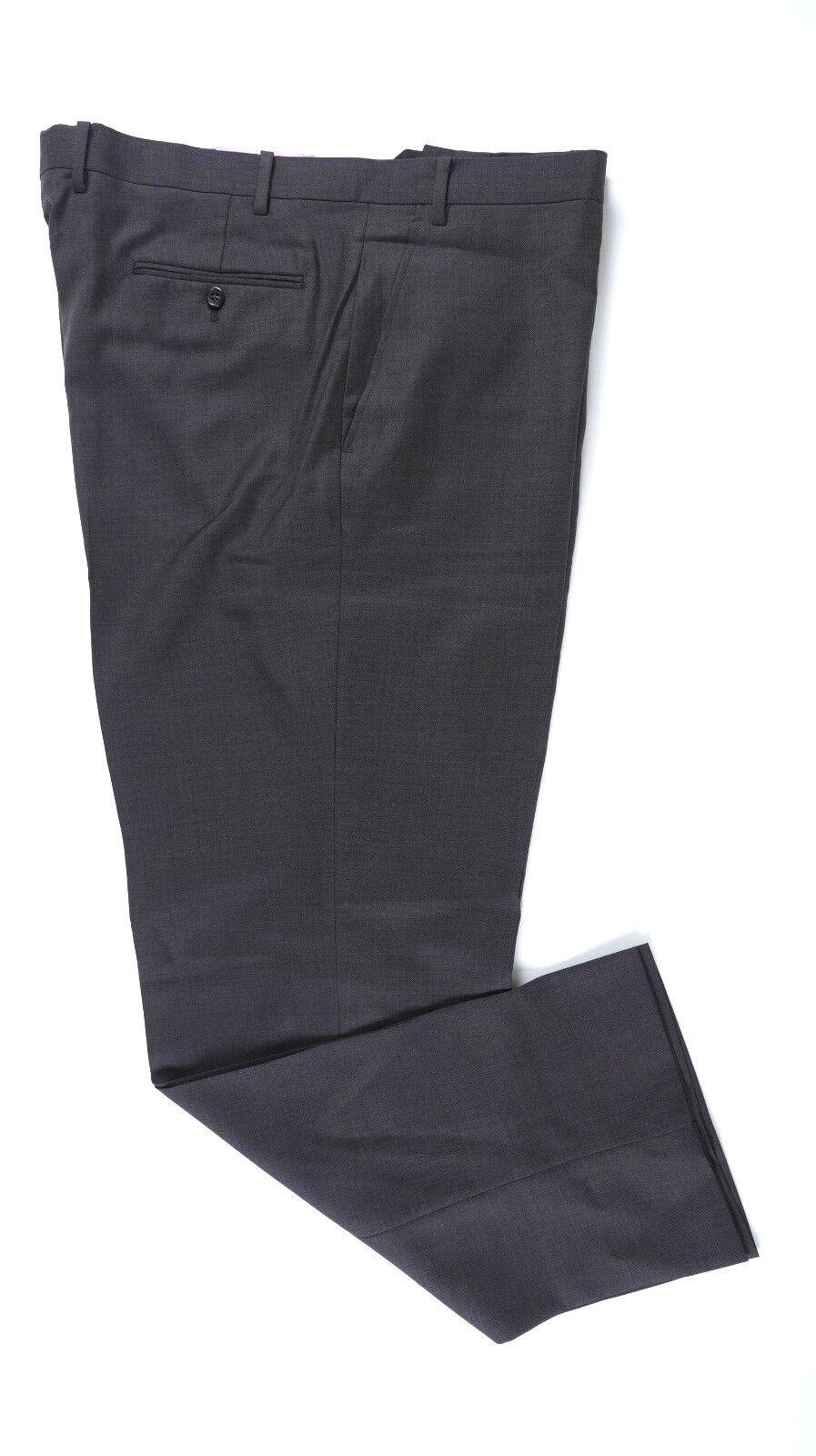 Alfani RED Slim Fit Dark Taupe Flat Front 100% Wool Dress Pants 30x30