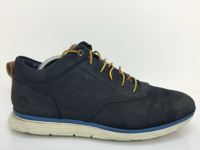 Timberland Flex Navy Blue  Leather Chukka Ankle Boots Mens Size UK 7.5 Eur 41.5