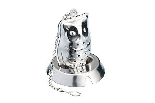 LEXPRESS acciaio inox NOVITA /'GUFO tè infus. argento