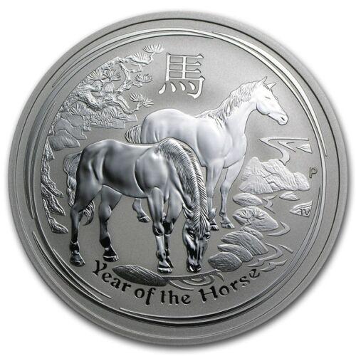 2014 Australian Lunar Year Horse Coin 2 oz .999 Fine Silver from fresh mint roll