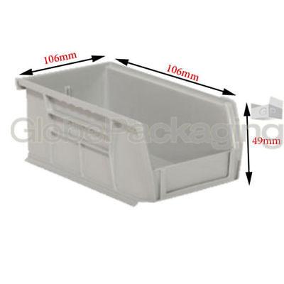 Fashion Style 5 X Forte Di Plastica Storage Impilamento Parti Di Prelievo Contenitori Scatole-dimensione 106x106x49mm-