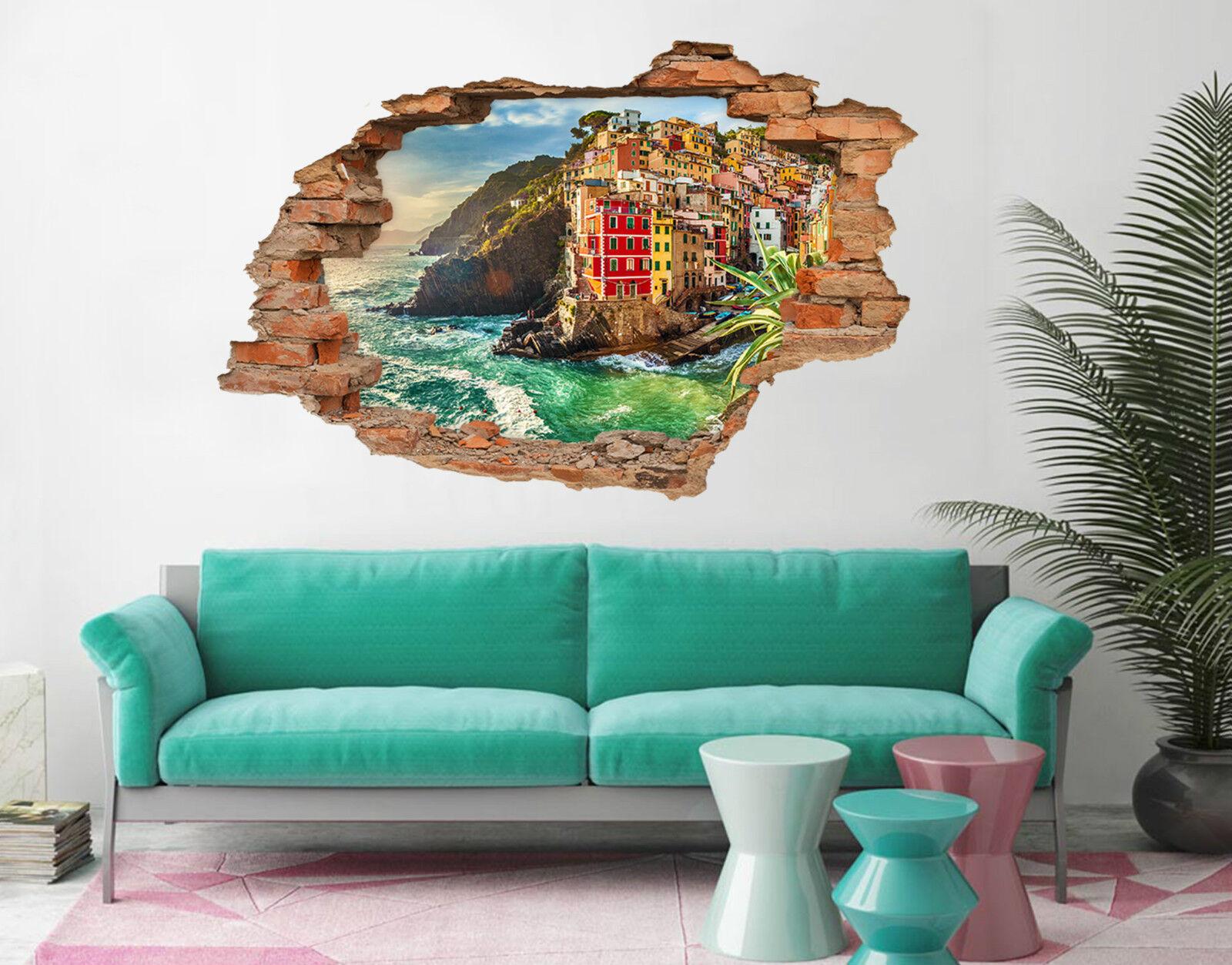 3D Flussinsel 529 Mauer Murals Aufklebe Decal Durchbruch AJ WALLPAPER DE Lemon