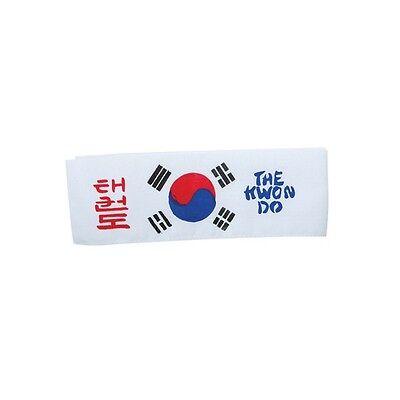 """5/"""" P1500 South Korea USA Taekwondo Flag Martial Arts Patch"""