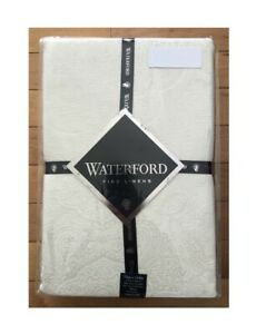 WATERFORD-Fine-Linens-Callum-Oblong-Tablecloths-IVORY-See-Selections-NEW
