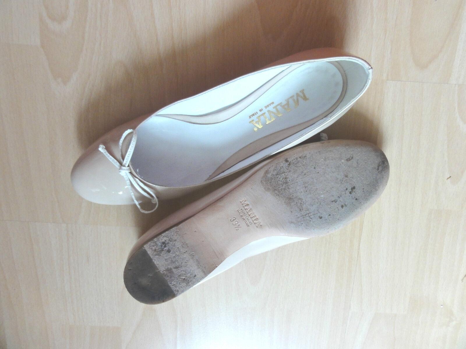 MANIA, Leder Schuhe, Ballerinas,Gr. 39,5 in Beige, NP NEU -  - wie NEU NP 907b80