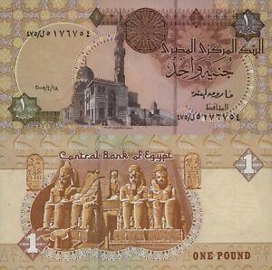Egypt-1-Pound-17-4-2005-Mosque-Temple-Statues-p50e-UNC