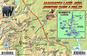 Mammoth Lakes Waterproof Map & Fish Card by Franko Maps 819420005164 ...