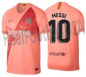 quality design 47ff2 41f2e Details about NIKE LIONEL MESSI FC BARCELONA THIRD JERSEY 2018/19.