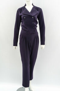 REISS-Long-Sleeve-Jumpsuit-in-Navy-Blue-Size-UK-12-USA-8-Dalai