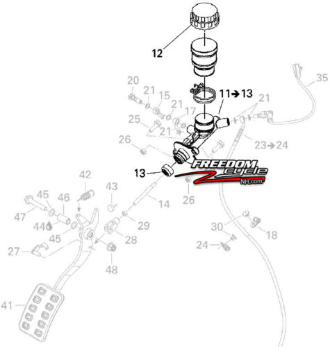 CAN-AM CAN AM CANAM COMMANDER MAVERIC 800 1000 BRAKE MASTER CYLINDER 705600681