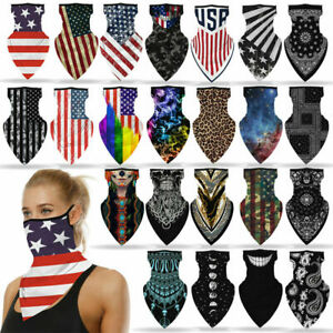 3xMotorcycle Bicycle Bandana Tube Head Scarf Neck Gaiter Face Shield Mouth Cover