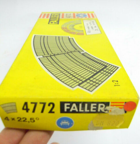 Faller ams 4772 STEILKURVE 22,5° 4x Fahrbahn Autobahn auto motor sport  1970er