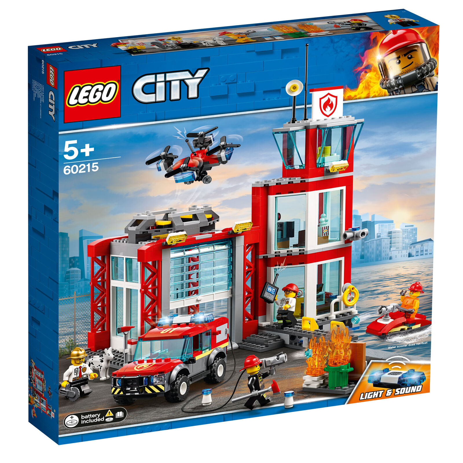 60215 LEGO CITY Fire Station 509 Pieces Age 5+ New Release for 2019