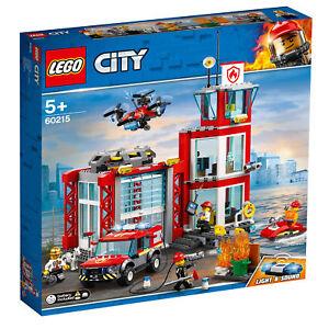 60215 Caserne de pompiers de Lego City 509 pièces, 5 ans, nouvelle version pour 2019!   5702016369373