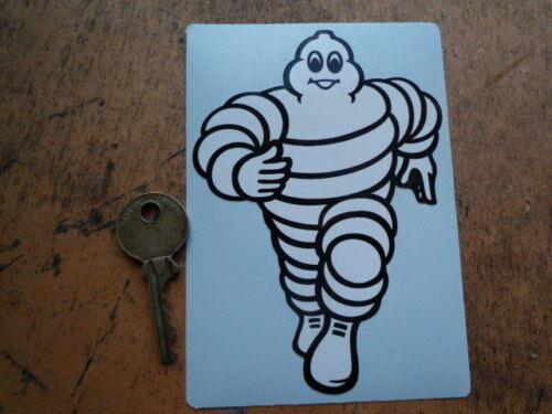 MICHELIN Bibendum /'RUNNING TOWARDS/' classic car sticker