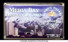 OLYMPIC PIN 2002 SALT LAKE CITY VILLAGE MEDIA DAY