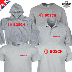 Bosch Black Logo T-shirt Zipped Hoodie Polo Shirt Jumper Vest S-5XL Power Tools
