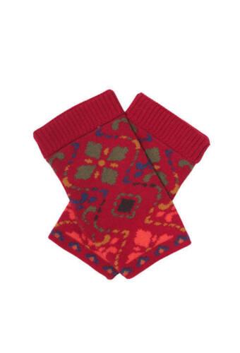 IVKO Handschuhe Merino-Wolle Handwärmer schwarz black Geometric Pattern 72648