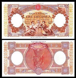 Italy-P89-10000-Lire-8-1947-VF-XF-Banca-d-039-Italia-RARE-Banknote