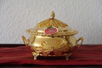 EntrüCkung Orient Schale Messing Vergoldet Handarbeit Neuwertig StäRkung Von Sehnen Und Knochen
