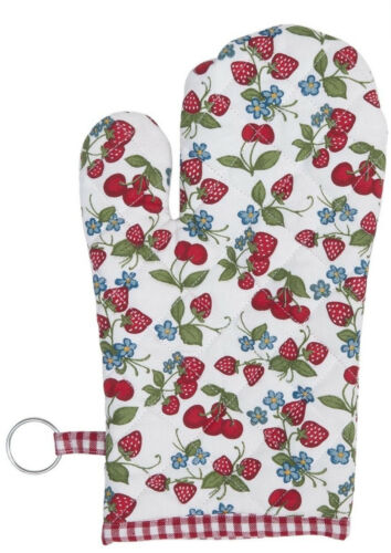 "Ofenhandschuh Backhandschuh /""Strawberries and Cherries/"" Baumwolle Clayre /& Eef"