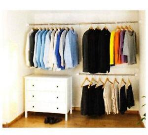 Expandable-Clothes-Rack-Organiser-Waldrobe-Rail-Stand-Storage-Garment-System-New