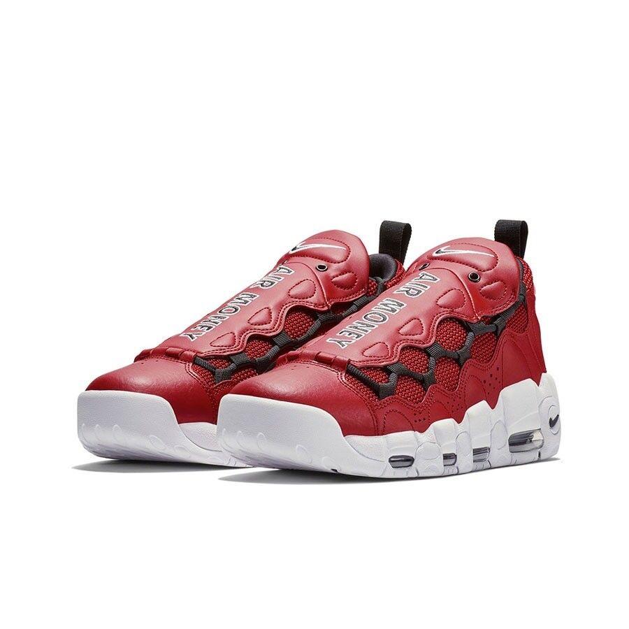 Nike Air More Money (Gym Red Black-White) Men's shoes AJ2998-600