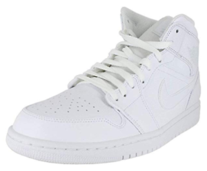 Jordan Mens AIR Jordan 1 MID White Pure Platinum White 554724-109 US8.5 EU40 NIB