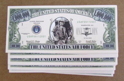 LOT OF 10 Air Force USAF MONEY FAKE LOT Of MILLION DOLLAR BILLS  FREE SHIP