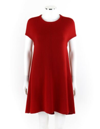 BALENCIAGA Ruby Red Knit High Low Cap Sleeve Mini… - image 1
