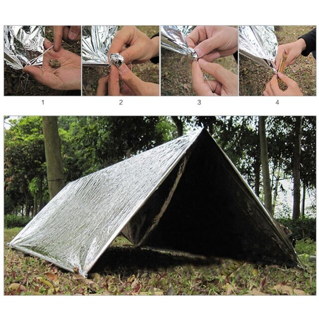 Outdoor Emergency Tent Blanket Sleeping Bag Survival Reflective Shelter Camping