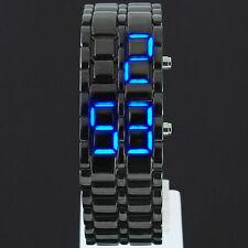 LED Digital data LAVA anonimi Bracciale Iron Samurai Watch Uomo Donna