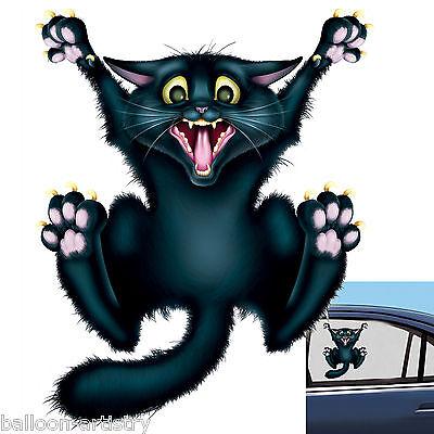 Halloween Horror CRAZY CAT Car Window Cling Decoration