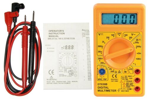500 V AC//DC Manuel Ranging Digital Test Multimètre y compris des sondes D03047