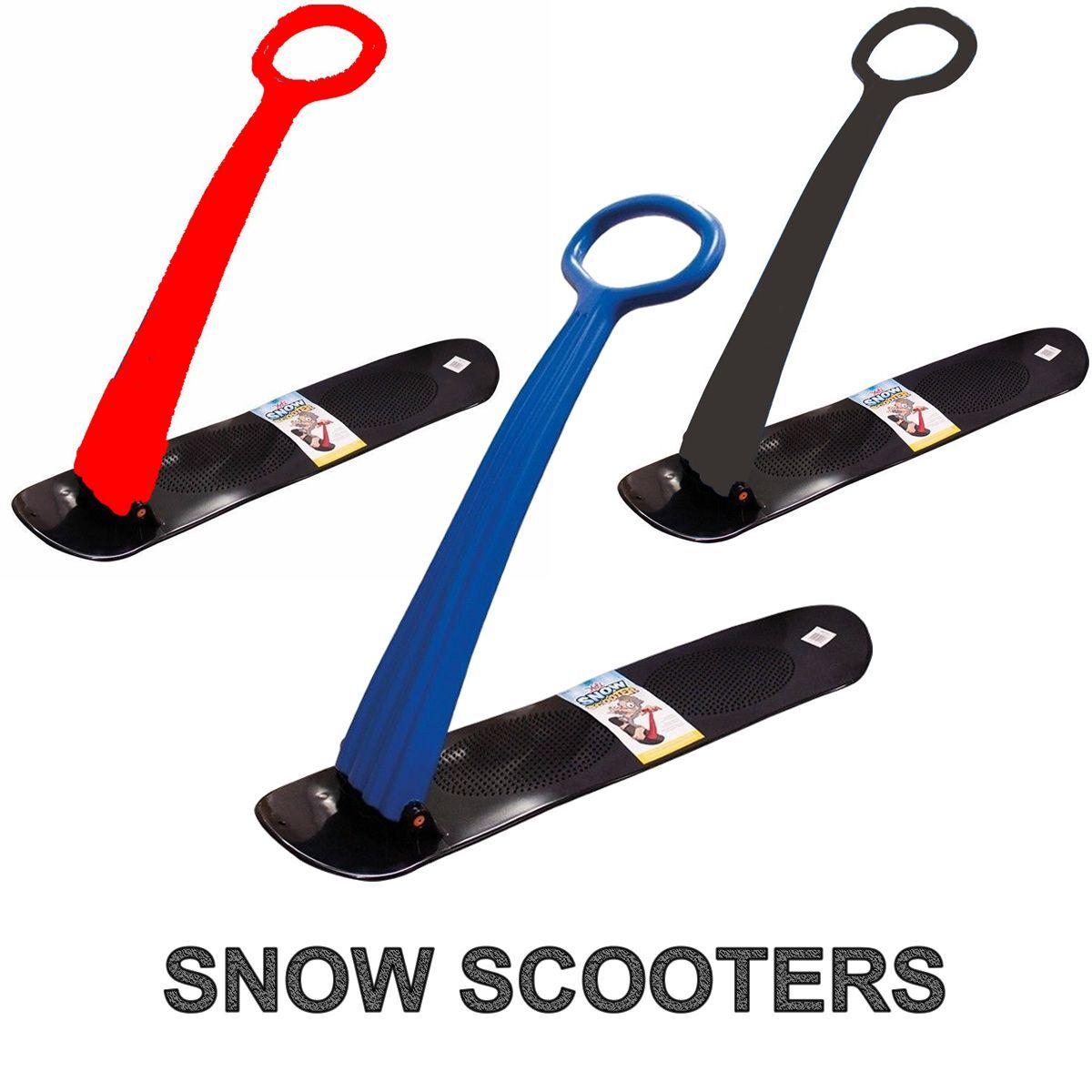 Kid's Snow Scooter Sled Ski Folding Snowboard Scoot Board  Boy's Girl's Sledge