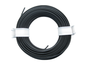 Cable miniatura cable liy 0,14 mm² flexible negro 10 metros tren modelo