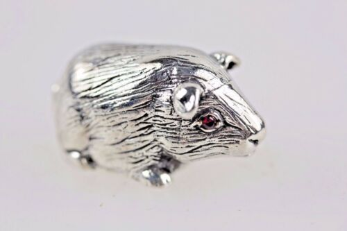 GUINEA PIG SOLID STERLING SILVER ANIMAL CHARM